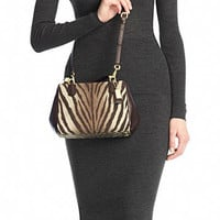 MADISON MINI SATCHEL IN ZEBRA PRINT FABRIC