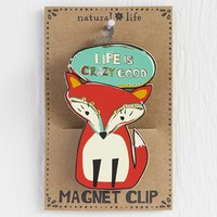 Fox  -  Crazy  Good  Magnet  Clip    From  Natural  Life