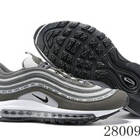 HCXX 19July 988 Nike Air Max 97 BQ7565-400 Flyknit Breathable Running Shoes
