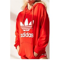 Adidas Women Fashion Solid Color Top Sweater Pullover Sweatshirt Hoodie Shorts