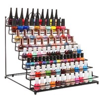8 Tier Scrollwork Black Metal Nail Polish Rack / Makeup Storage Table Top Display Stand (fits 80 Bottles)