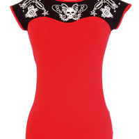 The Art Of Ink Tattooed Sweetheart Top
