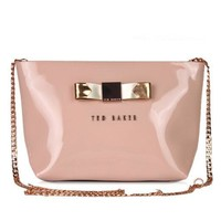Ted Baker Women Shopping Leather Metal Chain Crossbody Satchel Shoulder Bag