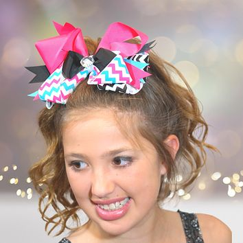 Jumbo Boutique Hair Bow with Bling Stone