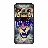 White Lion Collage Samsung Galaxy S6 Edge Case