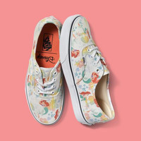 Vans Disney Series Mermaid Canvas Skate Shoes