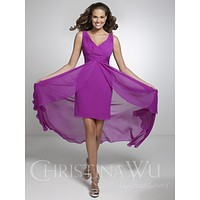 Christina Wu Occasions 22533 High Low Tank Sweetheart Bridesmaid Dress