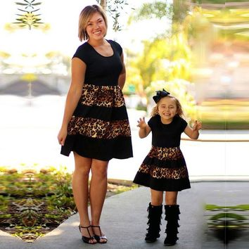 Leopard print mommy and me Dress