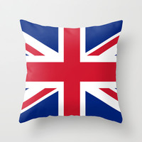 UK FLAG - The Union Jack Authentic color and 3:5 scale  Throw Pillow by LonestarDesigns2020 - Flags Designs +