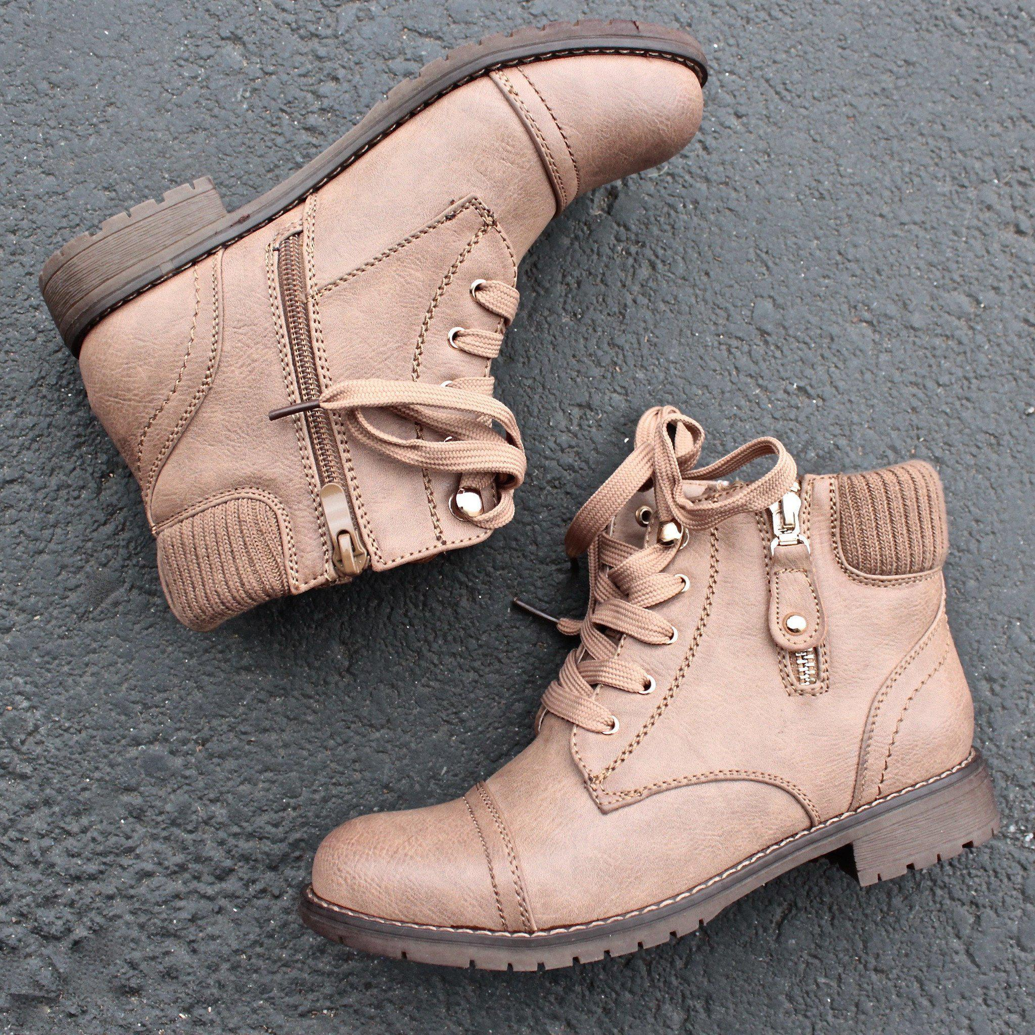 Image of low cut cutie sweater boots in khaki