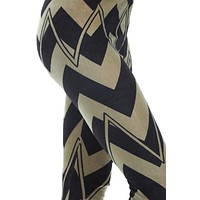 Women's Regular Chevron Pattern Leggings