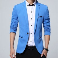 New Arrival Luxury Men Blazer New Spring Fashion Brand High Quality Cotton Slim Fit Men Suit Terno Masculino Blazers Men