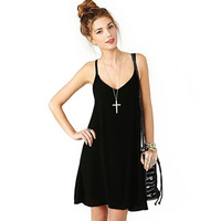 Vestido de festa Women Elegant Off The Shoulder Cross Backless Black Dress Feida