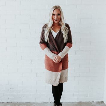 Turning Pages Long Cardigan