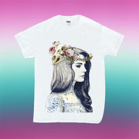Lana Del Ray Tattoo design for T Shirt Mens and T Shirt Girls