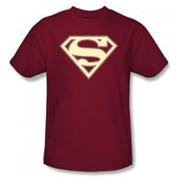 Superman Crimson and Cream Shield Logo T-Shirt