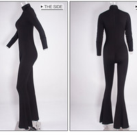 Turtlenecks Long Sleeve Bodycon Sexy Rompers and Jumpsuits