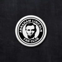 Abraham Lincoln fan club button