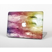 "The Pink-Yellow-Blue Grunge Painted Surface Skin Set for the Apple MacBook Pro 13"" with Retina Display"