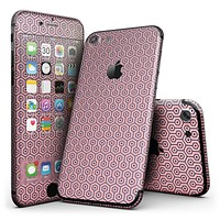 Navy Cells Over Coral  - 4-Piece Skin Kit for the iPhone 7 or 7 Plus