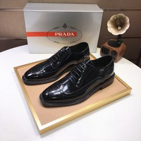 PRADA Man Fashion Casual Shoes Men Fashion Boots fashionable Casual leather Breathable Sneakers Running Shoes Sneakers