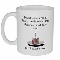 Cake Candle Holder - funny coffee or tea mug
