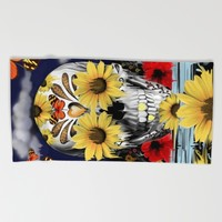 Dreaming of daisies Beach Towel by Kristy Patterson Design