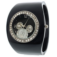 Disney Black Cuff Mickey Mouse Watch for Women | Disney Store