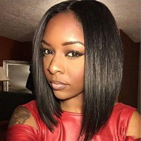 LMFONT African Bob Wigs Hair For Black Women