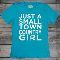 Women's Small Town Country Girl ® Fashion Fit Crew Neck Tee