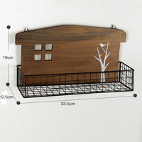 Home Decor Wooden Hollow Out Rack [4918505860]