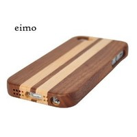 RioRand Handmade Natural Wooden Case Cover (Case for IPhone 5)