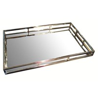 Pre-owned Mirrored Silver Tray