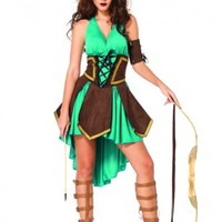 Green Brown 3 Pc. Celtic Warrior Sexy Costume