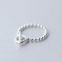 Fashion and personalized Beads ring ,925 sterling silver opening  ring, a perfect gift