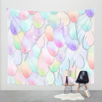 PARADISE BIRD Wall Tapestry by Monika Strigel