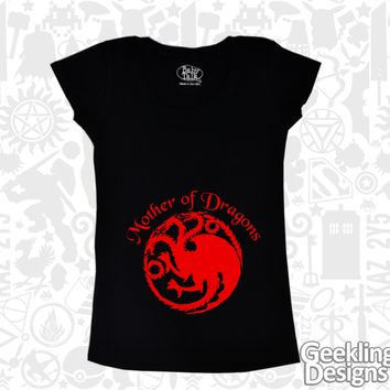 Mother of Dragons maternity t-shirt Game of Thrones from Geekling Designs