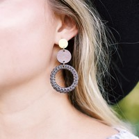 Rattan Layered Round Earrings