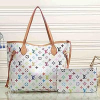 Louis Vuitton LV Hot Sale Two-piece Set Fashion Ladies Hand Bucket Bag Shoulder Bag Shopping Bag
