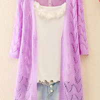 Knitted Wave Cardigan for Women from topsales