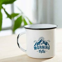 Morning Coffee Enamel Mug