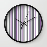 purple haze. Wall Clock by Pink Berry Patterns