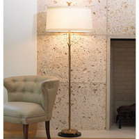 Global Views Organic Floor Lamp-Antique Brass Finish - Global Views 9-91127