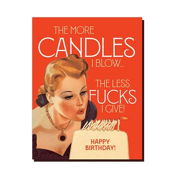 The More Candles Birthday Card