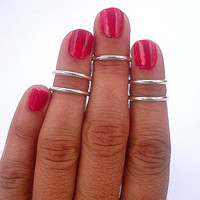 5 Plain Above the Knuckle Rings -  Silver Above Knuckle Ring  - Set of 5 by Tiny Box