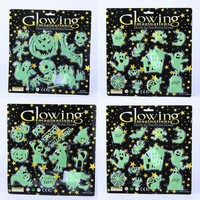 Halloween Supplies Halloween Props Display Windows Wall Decorations Bars KTV Pumpkins Ghost Witches Luminous Stickers Toys Props