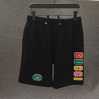 GUCCI GG embroidered letter shorts-3