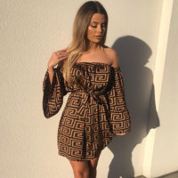 Womens Versace Long Sleeve Tube Dress