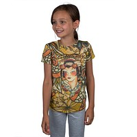 Ed Hardy - Geisha Collage Girls Juvy T-Shirt