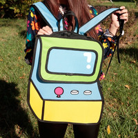 Hot 3D Jump 2D Drawing Vector Cartoon Paper Comic Backpack Bag Satchel Bookbags Unique Gift Idea = 4679612548